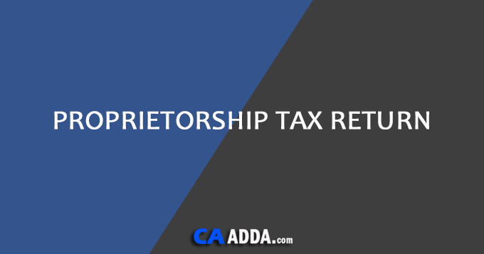 Proprietorship Tax Return